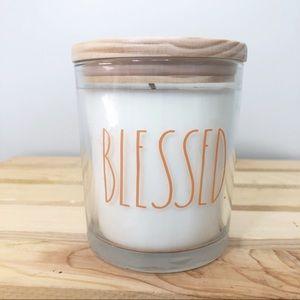 Rae Dunn Blessed Candle White Pumpkin (10.5 oz.)